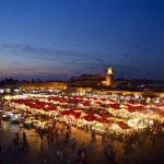 Marrakech Djemma el Fna tour - experience the square at night and eat in one of the food stalls