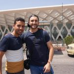 Sir Driver Tours client with Salmane at Marrakech Menara Airport in Morocco
