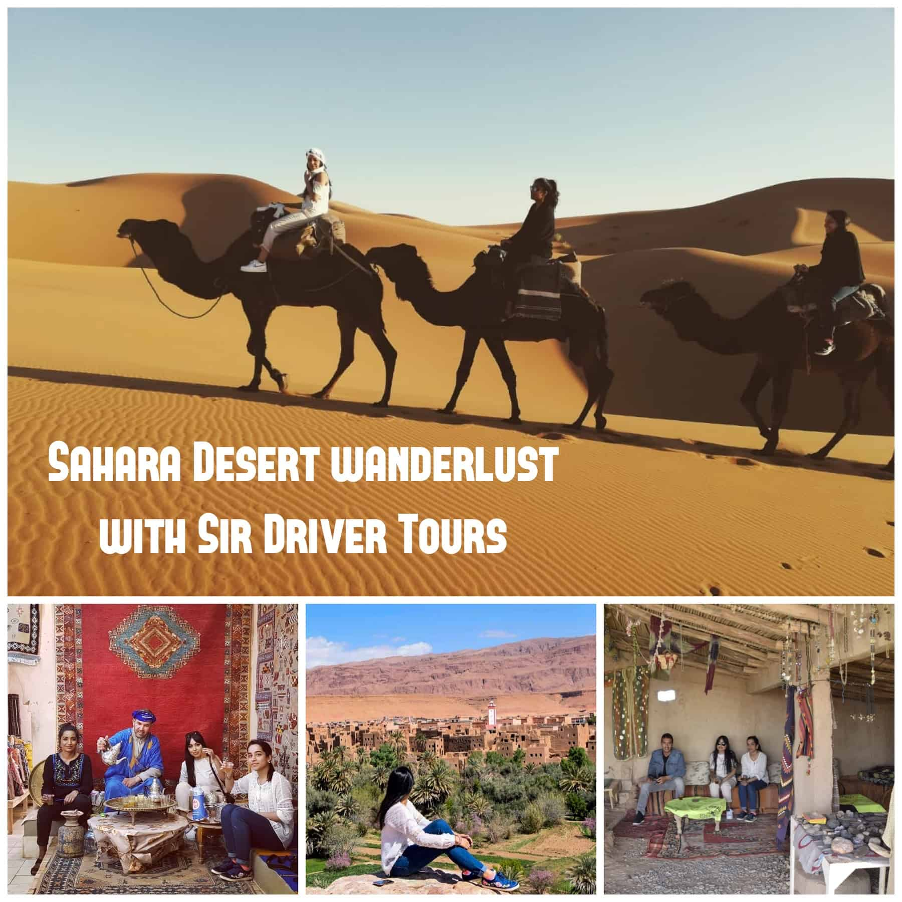Photos from a Sahara Desert tour, with a private driver in Morocco. Your itinerary is always customised.