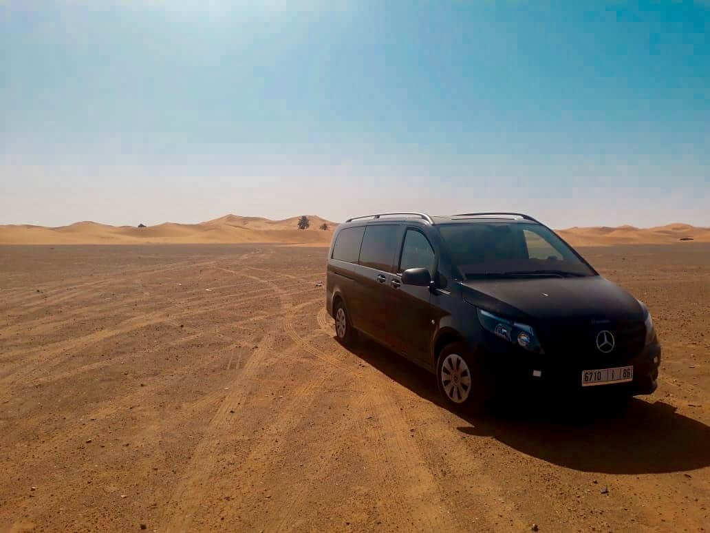 Your vehicle will be clean and comfortable, with air conditioning when you travel with a private driver in Morocco. At Sir Driver Tours, we have Mercedes and other luxury vehicles for your business trip. We also have 4x4s, minivans and buses for your group travel.